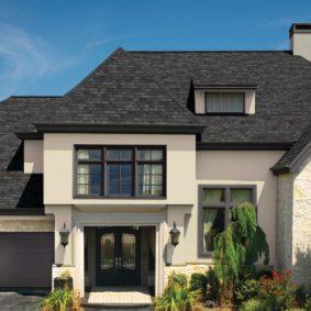 black single roofing